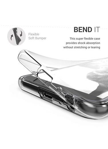 Microsonic Samsung Galaxy J4 Plus Kılıf 6 tarafı tam full koruma 360 Clear Soft  Renksiz